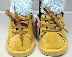 """Tan Construction Worker Boots Teddy Bear Clothes Fits Most 14""""-18"""" Build-a-bear, Vermont Teddy Bears, Animaland, Nanco, Ganz, Bear Mill, Teddy Mountain and More"""
