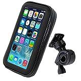 Arjan 防水スマホマウントホルダー 6.2インチ バイクや自転車のハンドル スマートフォン iphone6 アイフォンを取り付け 防水 防塵 マウントホルダーケース マウントキット Lサイズ