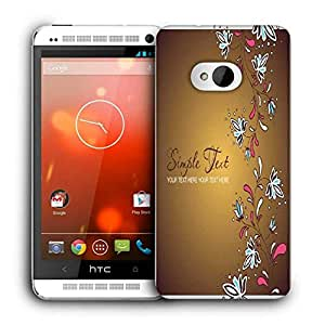 Snoogg Simple Text Cream Printed Protective Phone Back Case Cover For HTC One M7