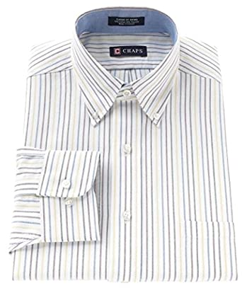 Chaps mens classic fit button down oxford dress shirt for Chaps mens dress shirts