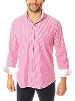VICKERS Camisa Hombre Harvard (Fucsia)