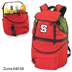 North Carolina State Wolfpack Zuma Insulated Backpack with Waterproof Liner - Red w/Digital Print
