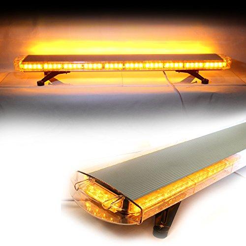 "Amber 46"" Led No Drill Mount Emergency Security Hazard Rooftop Strobe Traffic Advisor Light Bar Kit"