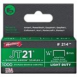 "5 Pack Arrow Fastener 214 JT21 1/4"" Flat Crown Light Duty Staples 1000 per Package"