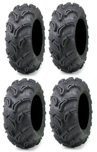 Full set of Maxxis Zilla 25x8-12 and 25x10-12 ATV Mud Tires (4) (Atv Tires Maxxis compare prices)