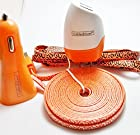 CablesFrLess 4 in 1 Leopard Print Tangle Free Noodle Style Micro USB and Auxiliary Accessory kit fits Android Samsung Galaxy S3 S4 Reverb Note Google Nexus HTC One Kindle Fire HD Touch Acer LG Optimus Pantech Blackberry Motorola HTC Sony Ericsson and most other micro USB devices (10ft Orange)