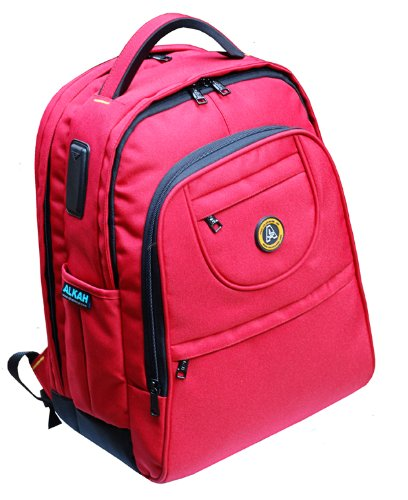 Red Alkah Red Laptop Backpack
