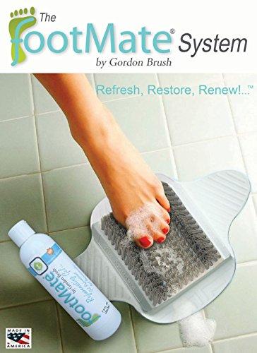 The FootMate System Foot Massager & Scrubber w/Rejuvenating Gel, White