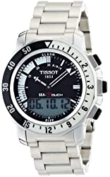 Tissot Men's T0264201105100 Sea Touch Quartz Chronograph Touch Screen Black Dial Watch
