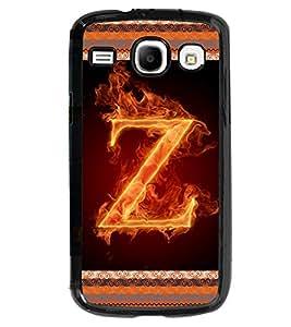 Fuson 2D Printed Alphabet Z Designer back case cover for SAMSUNG GALAXY CORE I8262 / I8260 - D4217