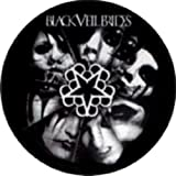 Black Veil Brides Black & White Logo with Faces and Star Symbol Button / Pin