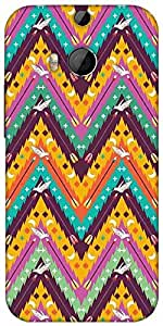 Snoogg Aztec Abstract Designer Protective Back Case Cover For HTC M8