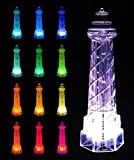 Solar Powered Lighthouse Garden Stake Light, Color Changing for Outdoor Living
