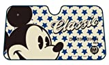 Mickey Mouse Classic Face with Script and Blue Stars Disney Car Truck SUV Front Windshield Sunshade - Accordion Style