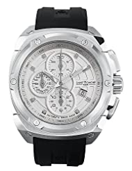 Saint Honore Men's 874230 1ACN Haussman Automatic Chronograph Black Rubber Watch