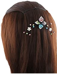 Anuradha Art Black Colour Styled With Multi Colour Stone Hair Accessories Hair Cilp For Women/Girls - B01GX5VNHY