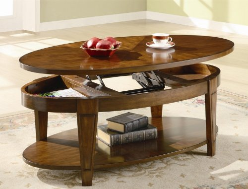 Coffee Table with Lift Top in Rich Cherry Finish