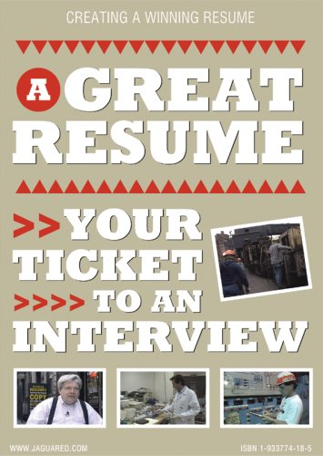 A Great Resume, Your Ticket to an Interview DVD VIDEO. Job Search Educational Tool. - Buy A Great Resume, Your Ticket to an Interview DVD VIDEO. Job Search Educational Tool. - Purchase A Great Resume, Your Ticket to an Interview DVD VIDEO. Job Search Educational Tool. (Jaguar Educational, Office Products, Categories, Office & School Supplies, Education & Crafts, Teaching Materials)