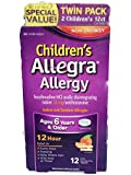 Children's Non-Drowsy Allegra Allergy Twin Pack 2 Children's 12 Ct Boxes
