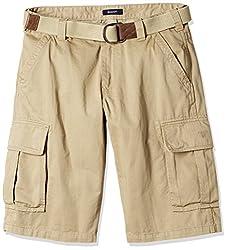 Gant Men's Cotton Shorts (8907036771312_GMHFF0005_Small_Dark Khaki)