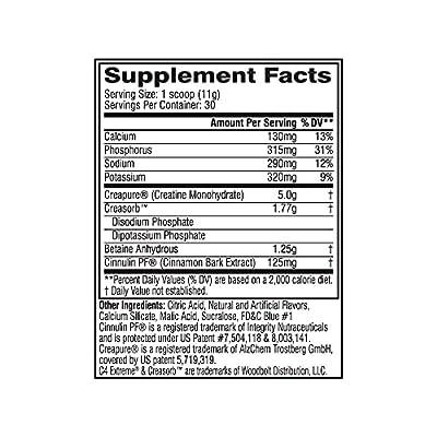 Cellucor Creatine Blue Razz Supplement Powder, 330 Gram