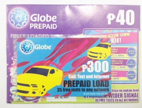 Globe プリペイドSIMリチャージカードセット 2G通信規格専用(GSM)6040