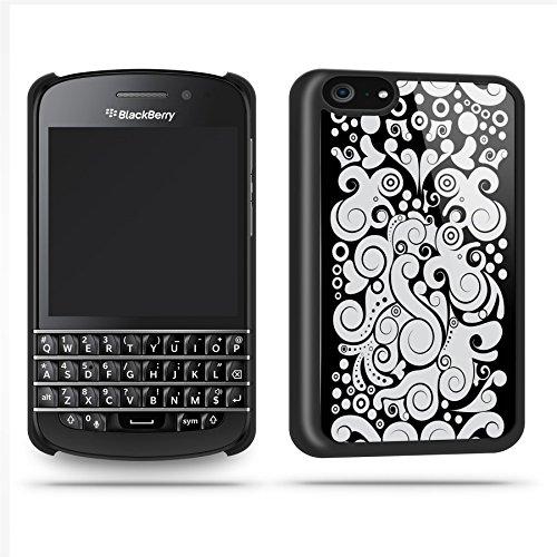 Black Pattern Black White Case Shell Cover Phone Case Shell For Blackberry Q10 - Black