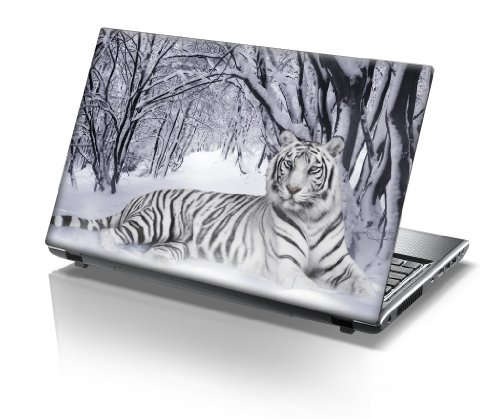 15'6 Inch Taylorhe laptop skin protective decal tiger lying in the snow