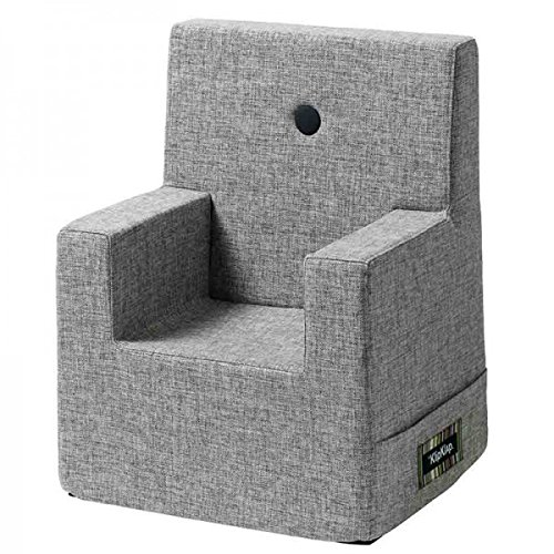 by KlipKlap Kids Chair - Multigrey with Grey Button