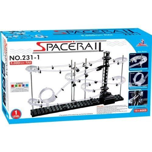 Lujex SpaceRail DIY Physics Space Ball Rollercoaster with Powered Elevator Building block Educational Toys IQ Test Baby Gift Level 1 by Lujex