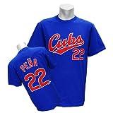(マジェスティック)Majestic MLB カブス #22 カルロス・ペーニャ Player Tシャツ (ロイヤル)