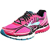 Brooks Women's Adrenaline GTS 14 Running Shoes, PinkGlo, Black, CapriBreeze