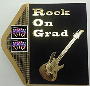 Amazon Com Papyrus Gold Electric Guitar Graduation Card