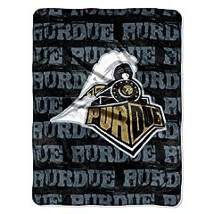 Buy NCAA Purdue Boilermakers 46-Inch-by-60-Inch Micro-Raschel Blanket, Grunge Design by Northwest
