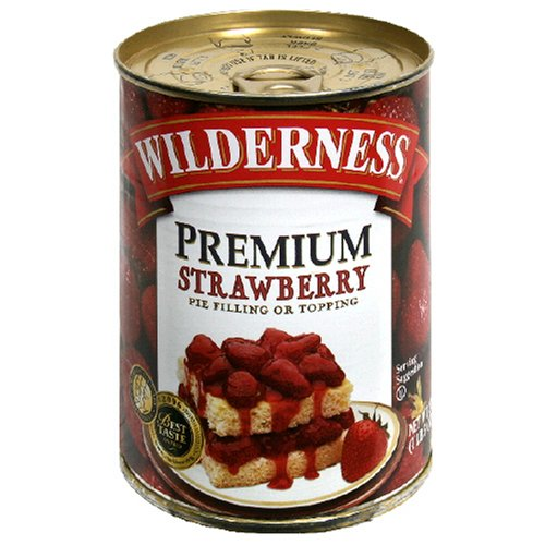 Buy Wilderness Premium Pie Filling, Strawberry, 21-Ounce Cans (Pack of 6) (Wilderness, Health & Personal Care, Products, Food & Snacks, Baking Supplies, Pie & Cobbler Fillings)