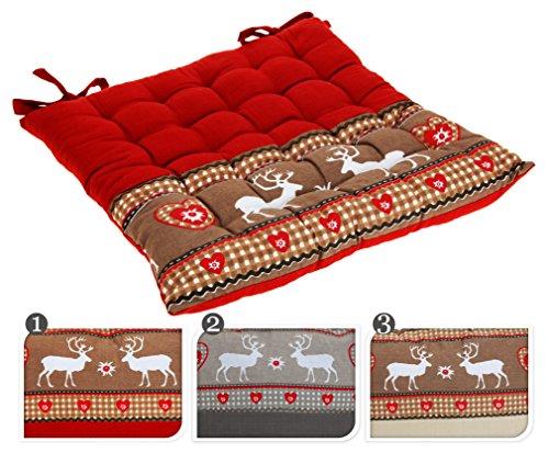 sitzkissen mit hirschmotiv hirsch deko landhausstil oder. Black Bedroom Furniture Sets. Home Design Ideas
