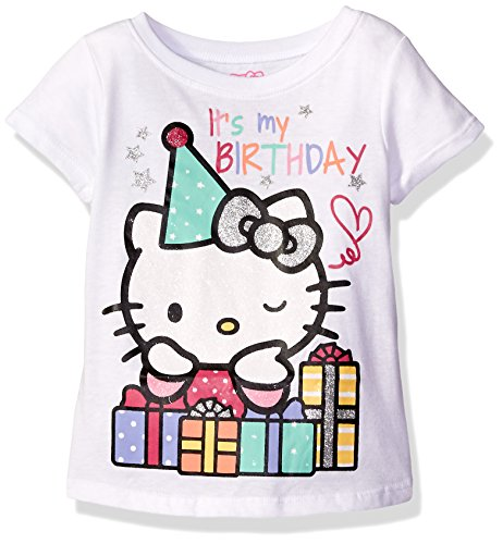 Hello Kitty Girls Toddler Happy Birthday T Shirt