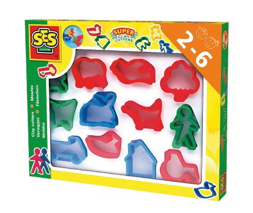SES Creative Children's Super Clay Cutters Set, 12-Pack