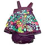 Youngland Infant & Toddler Girls Purple Flower Sequin Ruffled Dress Sundress