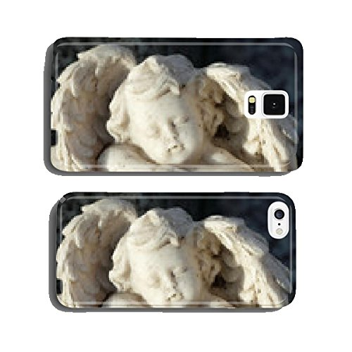 sleeping little angel figurine - cemetery tombstone -detail cell phone cover case iPhone6 (Angel Tombstone)