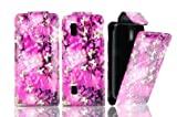 FOR NOKIA ASHA 300 MAGNETIC TOP FLIP LEATHER COVER CASE POUCH - PERFECT FIT (GREY BUTTERFLY)