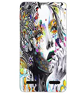 LENOVO A6000 PLUS NATURE GIRL Back Cover by PRINTSWAG