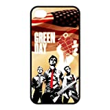 Music Band Green Day iPhone 4/4s Case Covers Rock Band Billie Joe Armstrong Mike Dirnt Tre Cool Jason White Red/Green iPhone 4/4s Case