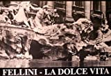 Federico Fellini - La Dolce Vita - b/w Trevi Fountain Italian Huge Film PAPER POSTER measures approximately 100x70 cm Greatest Films Collection Directed by Federico Fellini. Starring Marcello Mastroianni, Anita Ekberg, Anouk Aimée.