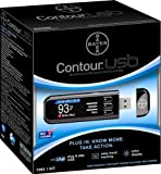 Bayer 7393 Contour Usb Blood Glucose Monitoring System, Black
