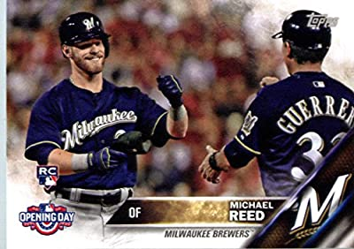 2016 Topps Opening Day #OD-109 Michael Reed Milwaukee Brewers Baseball Rookie Card
