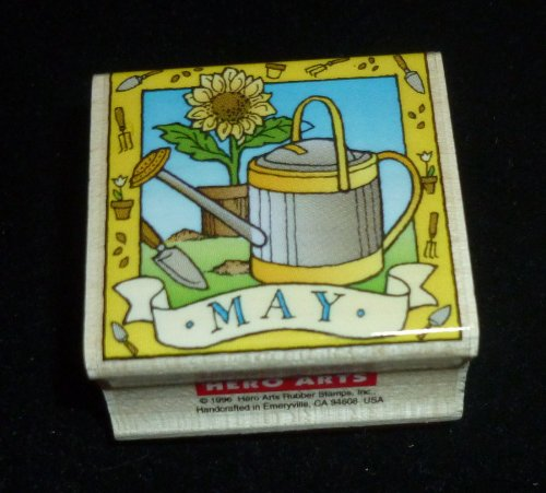 May Watering Can Rubber Stamp - 1