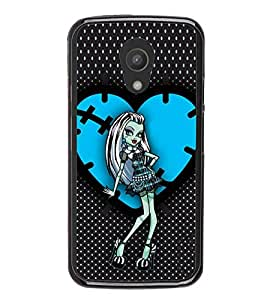iFasho Crazy Girl Back Case Cover for Moto G2