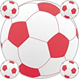 FOOTBALLS stickers - RED - SMALL