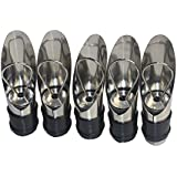 EsmartD 5 PCS / Set Stainless Steel Bottles Wine Aerating Spout and Pourer with Stopper - Liquor Bottle and Wine Gift Set --- Small Unique for Air Decanter and Aerator